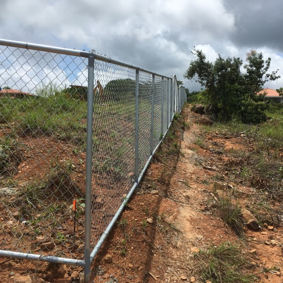 The entire property is fenced